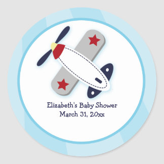 Aviator Airplane Custom Favor Stickers 3 inch