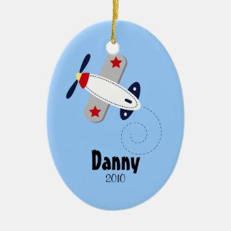 AVIATOR AIRPLANE Personalized Christmas Ornament
