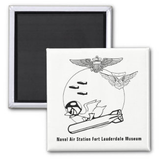 Aviator Duck Square Magnet