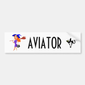 Aviator funny customizable bumper sticker