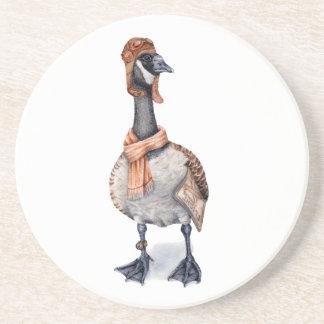 Aviator Goose Drink Coasters