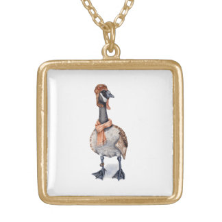 Aviator Goose Gold Plated Necklace