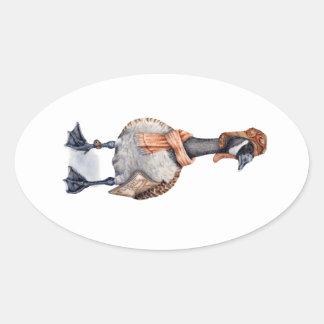 Aviator Goose Oval Sticker