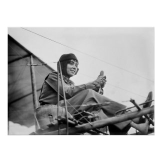 Aviator Hélène Dutrieu Poster