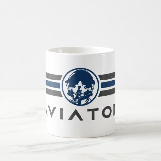 Aviator Logo With Fighter Pilot Helmet Coffee Mug
