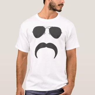 Aviator Mustache silhouette T-Shirt