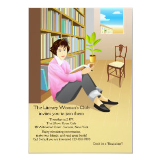 Avid Reader Book Club Invitation