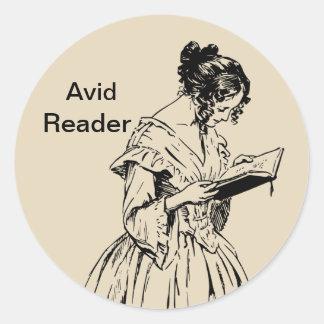 Avid Reader Sticker
