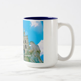 Avignon Cathedral, Provence Two-Tone Coffee Mug