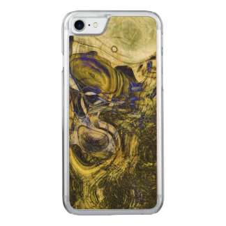 Avignon Olive Green Abstract Art Carved iPhone 8/7 Case