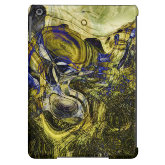 Avignon Olive Green Abstract Art Case For iPad Air