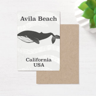 Avila Beach California Travel poster Business Card