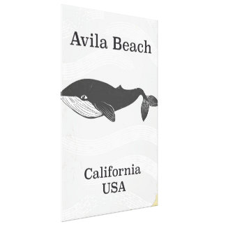 Avila Beach California Travel poster Canvas Print