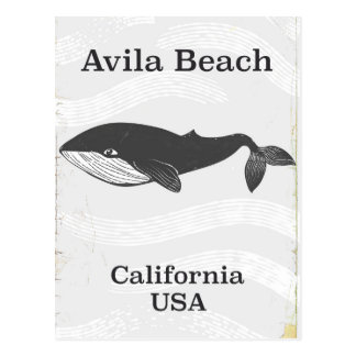 Avila Beach California Travel poster Postcard