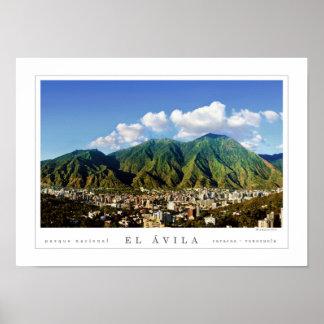 Avila National Park of Caracas City (poster) - Poster