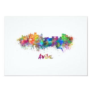 Avila skyline in watercolor card