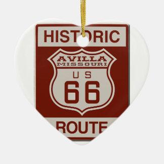 Avilla Route 66 Ceramic Ornament