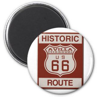 Avilla Route 66 Magnet