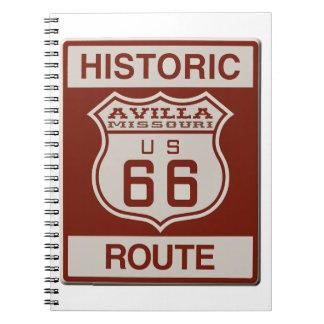 Avilla Route 66 Notebook