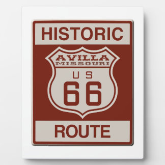 Avilla Route 66 Plaque