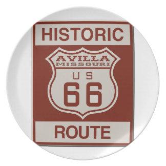 Avilla Route 66 Plate
