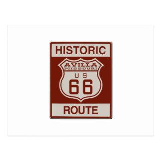 Avilla Route 66 Postcard
