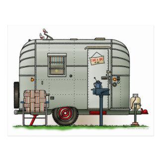 Avion Camper Trailer Postcard
