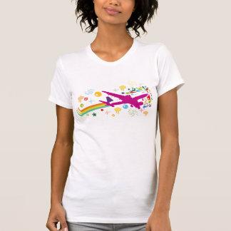 Avion d'affichage à cristaux liquides tee-shirts