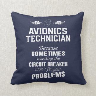 Avionics Technician Throw Pillow