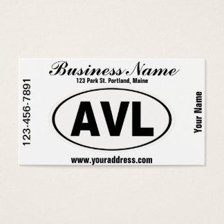 AVL Asheville North Carolina Business Card