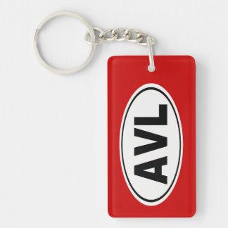 AVL Asheville North Carolina Keychain