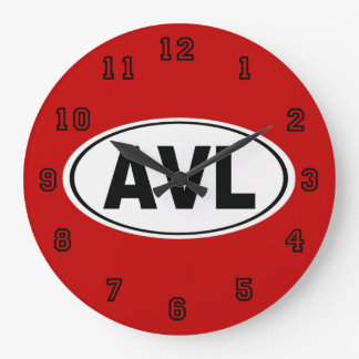 AVL Asheville North Carolina Large Clock