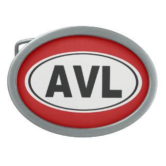 AVL Asheville North Carolina Oval Belt Buckles