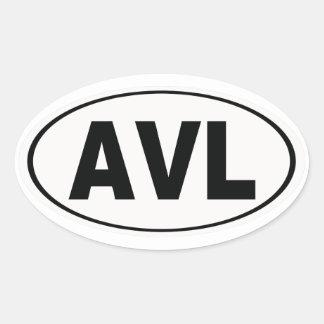 AVL Asheville North Carolina Oval Sticker