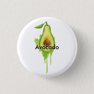 Avocado 1 Inch Round Button