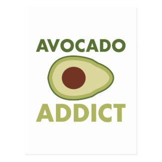 Avocado Addict Postcard