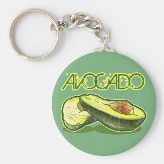 Avocado Basic Round Button Keychain
