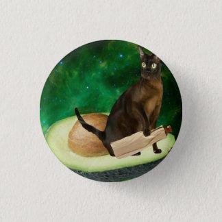 avocado cat 1 inch round button