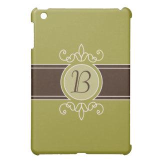 Avocado Classic Harvest Monogram  iPad Mini Case