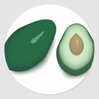 Avocado Classic Round Sticker