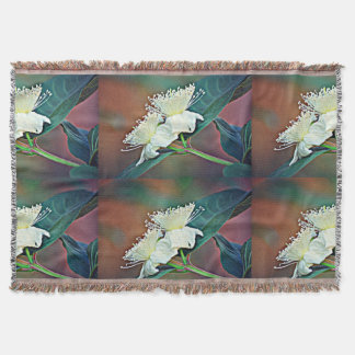 Avocado Flower Throw Blanket