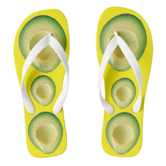 Avocado Frenzy Yellow 4Tina Flip Flops