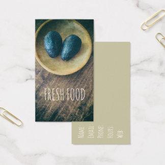 Avocado Fresh Food Wood Kitchen Theme Business Card