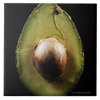 Avocado,Fruit,Black background Ceramic Tiles