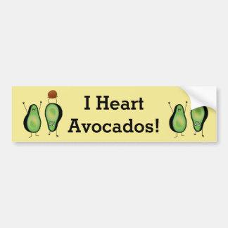 Avocado funny cheering handstand green pit bumper sticker