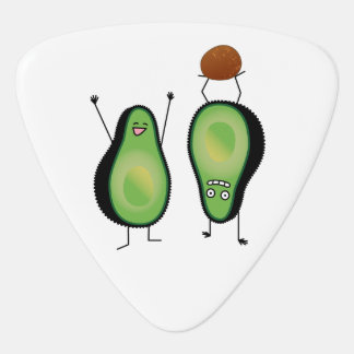 Avocado funny cheering handstand green pit guitar pick
