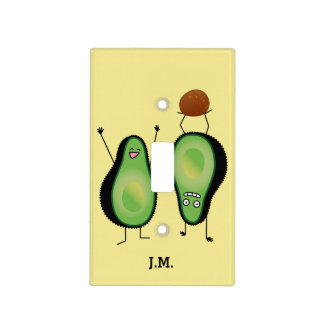 Avocado funny cheering handstand green pit light switch cover