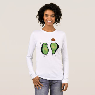 Avocado funny cheering handstand green pit long sleeve T-Shirt