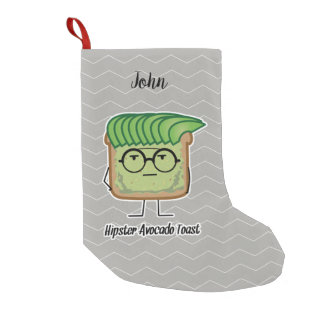Avocado funny cheering handstand green pit small christmas stocking