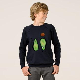 Avocado funny cheering handstand green pit sweatshirt